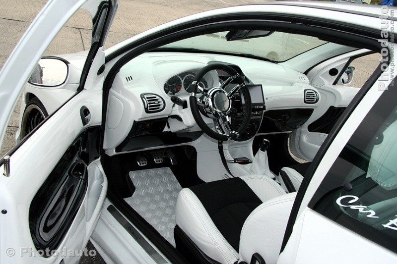 peugeot 206 blanche int rieur photo voiture tuning ForInterieur Tuning Auto