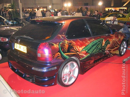 Honda Civic peinte tuning