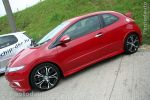 Honda Civic rouge profil